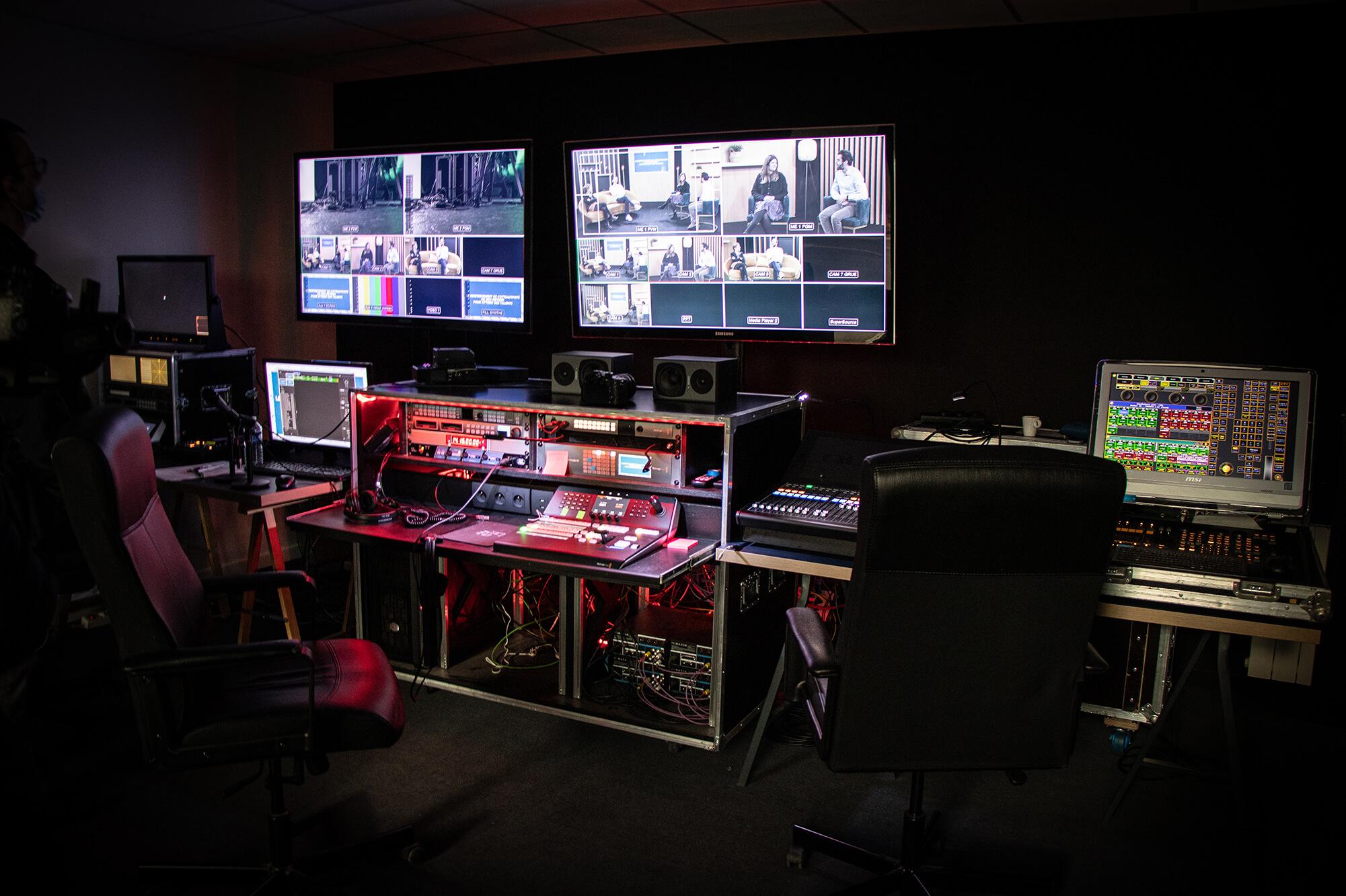Un dispositif technique complet répondant aux normes broadcast.